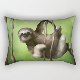Sloth (Low Poly Lime) Rectangular Pillow