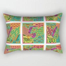Tiles 1-9 White Rectangular Pillow