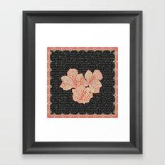 Burlap & Flowers 2 Framed Art Print