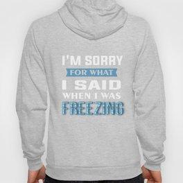 Freezing T-Shirt Im Sorry I Was Freezing Funny Freezer Tee Hoody