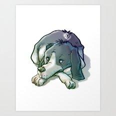 Quiltro Dog Art Print