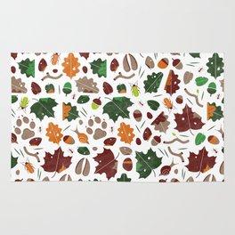 Forest floor tile pattern Rug