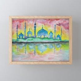 A Setting Framed Mini Art Print