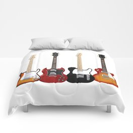 Four Electric Guitars Comforters
