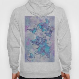 World Map Purple Hoody
