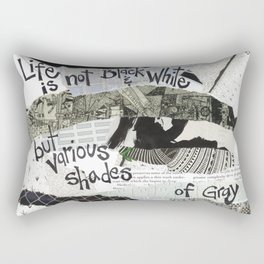 Black and White Rectangular Pillow