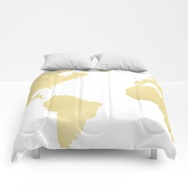 Gold Rush Map of the World Comforters