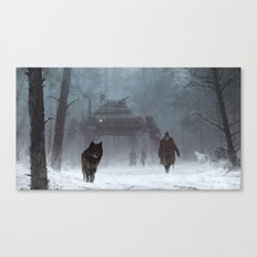 winter walk through the woods Canvas Print