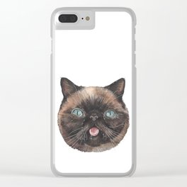 Der the Cat - artist Ellie Hoult Clear iPhone Case