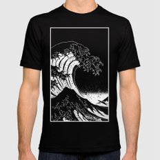 Hokusai, the Great Wave Black MEDIUM Mens Fitted Tee