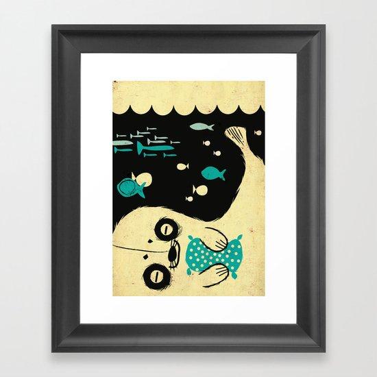Panda Seal Framed Art Print