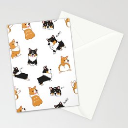 Corgi Pawty Stationery Cards