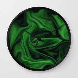 Black and green marble pattern Wall Clock