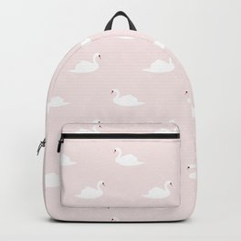 Swan pattern on pink 033 Backpack