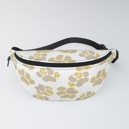 Cute golden paws in pastel colors Fanny Pack