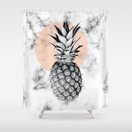Marble Pineapple 053 Shower Curtain
