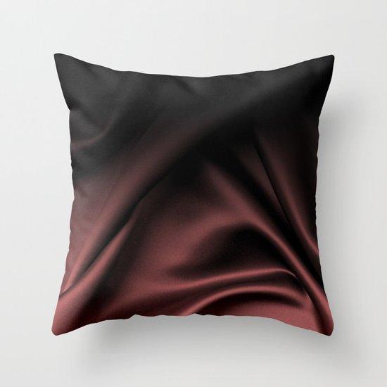 Silk Marsala Ombre Throw Pillow