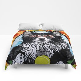 Gizmo the Border Collie Comforters