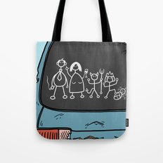 Honest Stick Figure Family Tote Bag