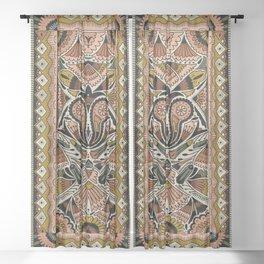 Botanical Print III Sheer Curtain