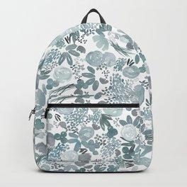 Summer Posies Floral - Blue Backpack