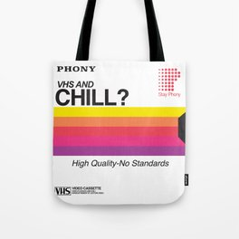 VHS and Chill Tote Bag