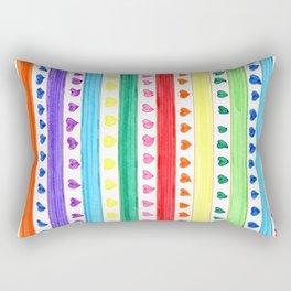 LOVE STRIPES Rectangular Pillow