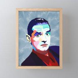 Portrait of Hans Holzel (Falco) Framed Mini Art Print