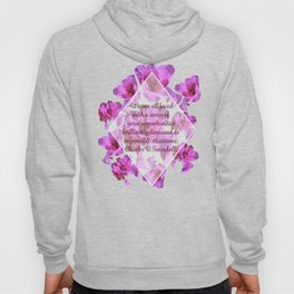 Great Opportunities in Disguise Floral Print-by Hxlxynxchxle Hoody