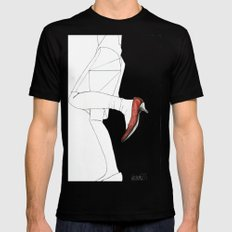 Red Shoe Mens Fitted Tee Black MEDIUM