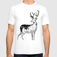 Cervidae Mens Fitted Tee SMALL White