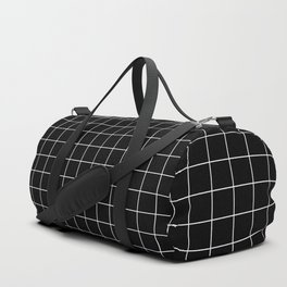 12 Grid Black White Minimal Modern Boho Duffle Bag