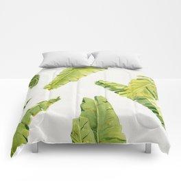 Tropical Banana Leaves Comforters