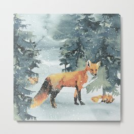 Winterly Forest 4 Metal Print