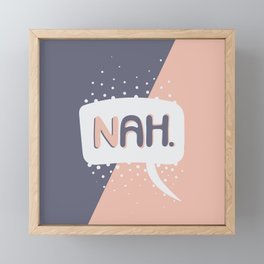 NAH. Pink & Grey Framed Mini Art Print