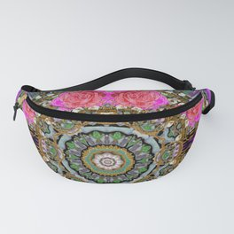 roses in a color cascade of freedom and peace Fanny Pack