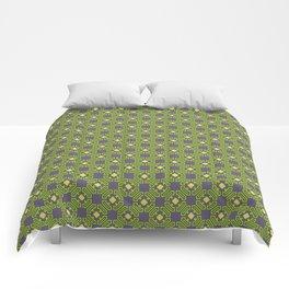 Digital Circuits Geometric Seamless Pattern Comforters