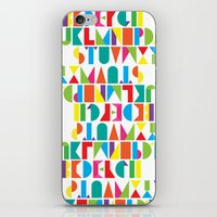 alphabet iPhone & iPod Skins featuring Alphabet by Rachel Lee