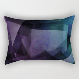 Vaporwave - Digital Geometric Texture Rectangular Pillow