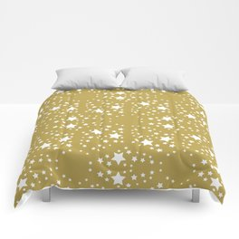 Gold and stars Comforters