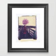 Baloon Girl Framed Art Print