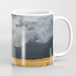 Cotton Candy - Storm Clouds Over Wheat Field in Kansas Coffee Mug