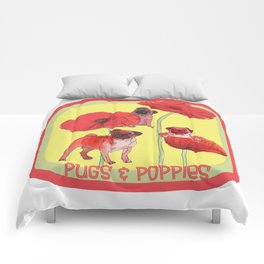 Pugs and Poppies Comforters