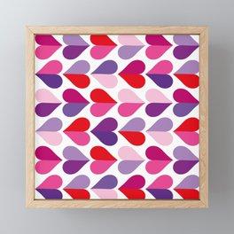 Love and Kisses in Ultra Violet Framed Mini Art Print