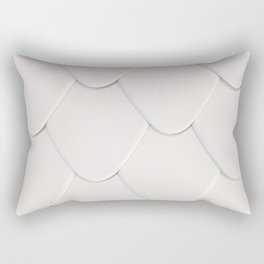 Pattern of white rounded roof tiles Rectangular Pillow