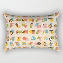 ABCs Ice Cream Rectangular Pillow