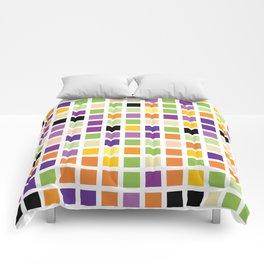 City Blocks - Eggplant #490 Comforters
