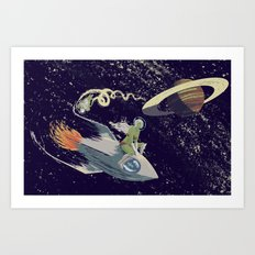 Space Chase Art Print