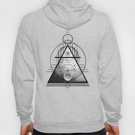 Wicca Air Element Symbol Pagan and Witchcraft Triangle Hoody