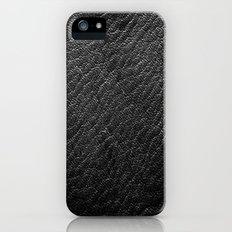 Leather Texture (Black) iPhone (5, 5s) Slim Case